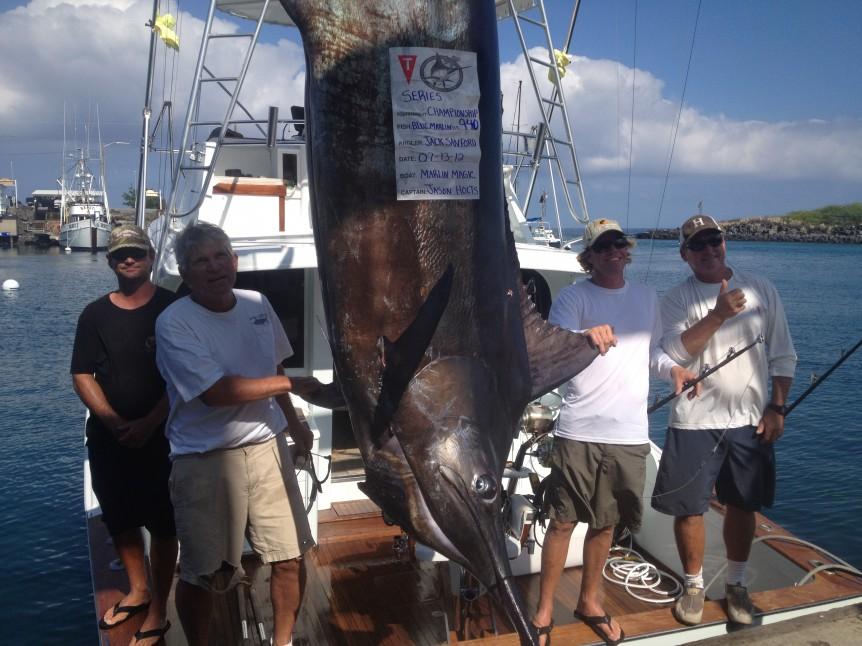 2012 Hawaii Marlin Tournament Series Champs 940# Blue marlin