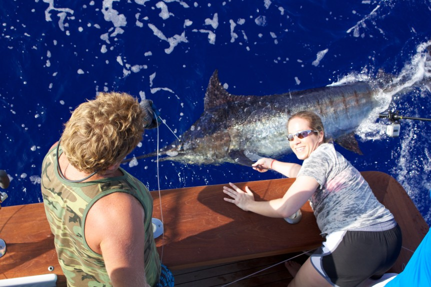 Jenny's first blue marlin!
