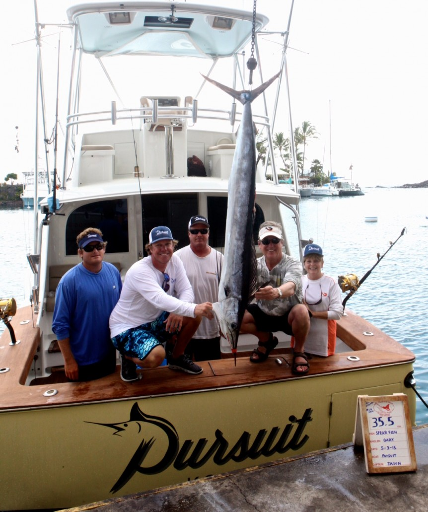 1st Shortbillbill spearfish caught on 2# line.